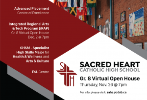 Grade 8 Virtual Open House